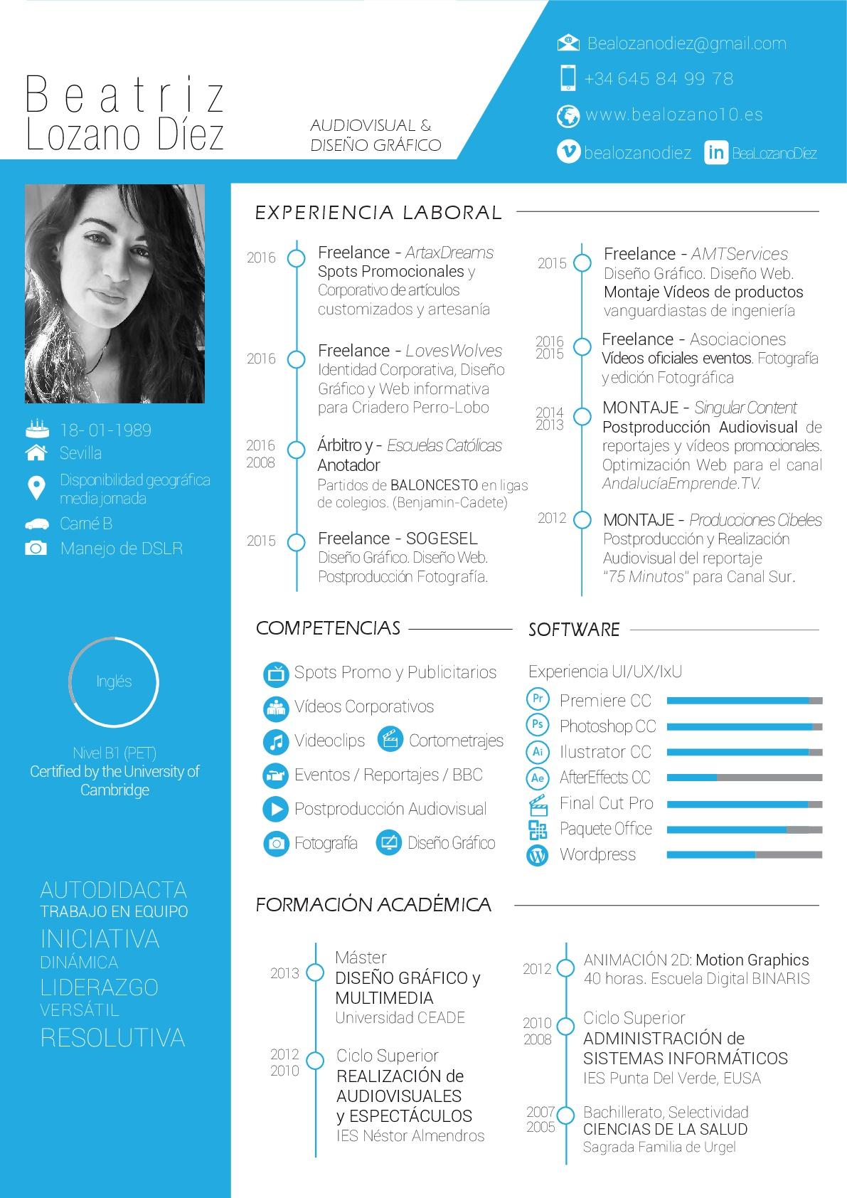 Curriculum Con Dise 241 O Bea Lozano D 237 Ez